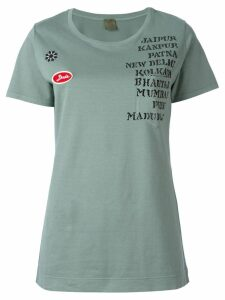 Mr & Mrs Italy embellished print patch T-shirt - Green
