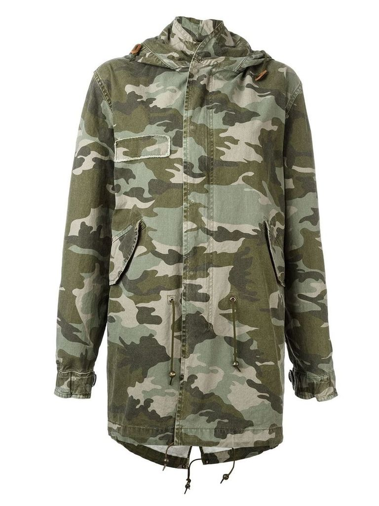 Mr & Mrs Italy camouflage print parka - Green