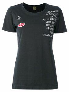 Mr & Mrs Italy embellished print patch T-shirt - Black