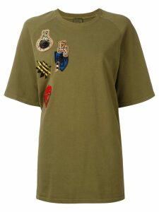 Mr & Mrs Italy oversized multipatch T-shirt - Green
