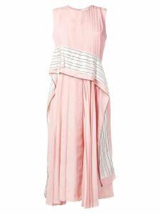 Sportmax striped panel pleated dress - Pink