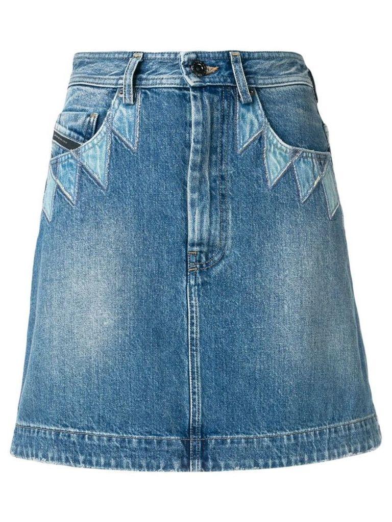 Diesel Black Gold geometric A-line skirt - Blue