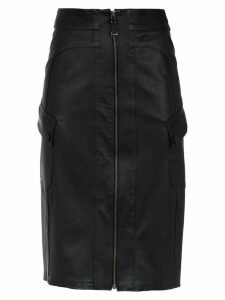Tufi Duek leather skirt - Black