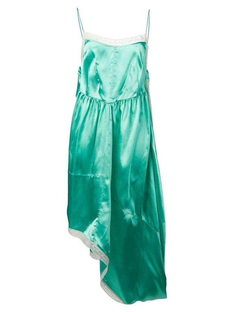 Mm6 Maison Margiela asymmetrical satin dress - Green