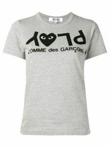 Comme Des Garçons Play reverse printed T-shirt - Grey