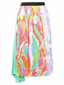 Emilio Pucci Rivera Print Pleated Mid-Length Skirt - Pink