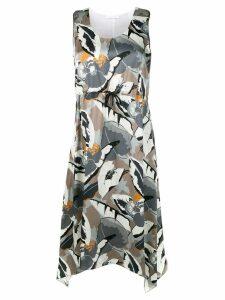 Fabiana Filippi handkerchief hem dress - Grey