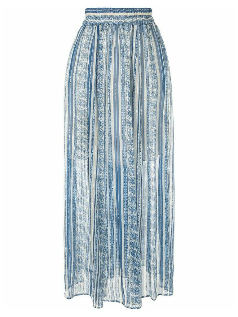 Philosophy Di Lorenzo Serafini high-waist arabesque print skirt - Blue