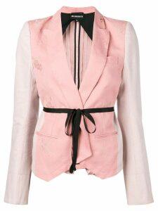 Ann Demeulemeester contrast panel brocade jacket - Pink