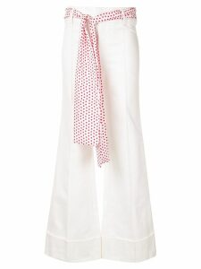 Maggie Marilyn flared jeans with belt scarf - White
