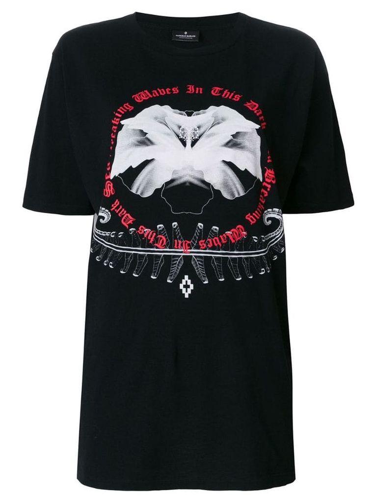 Marcelo Burlon County Of Milan White flower T-shirt - Black