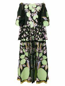 Yuliya Magdych Lemons embroidered dress - Black