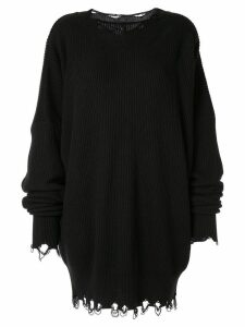 Unravel Project ribbed sweater dress - Black