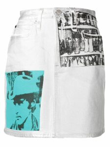 Calvin Klein Jeans Andy Warhol photo art skirt - White