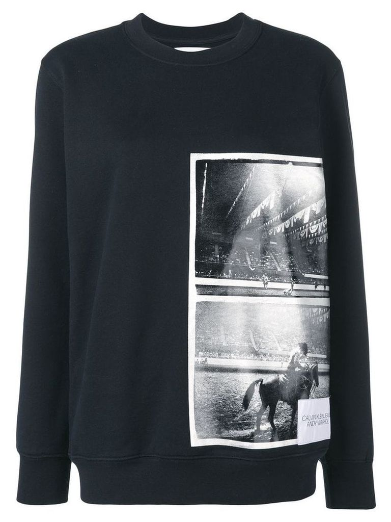 Calvin Klein Jeans Andy Warhol photo art sweatshirt - Black