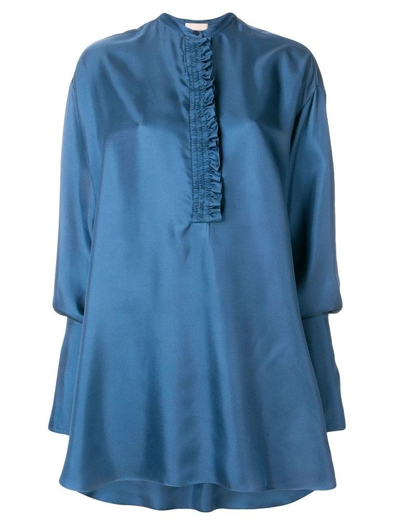 Roksanda ruffle front tunic dress - Blue