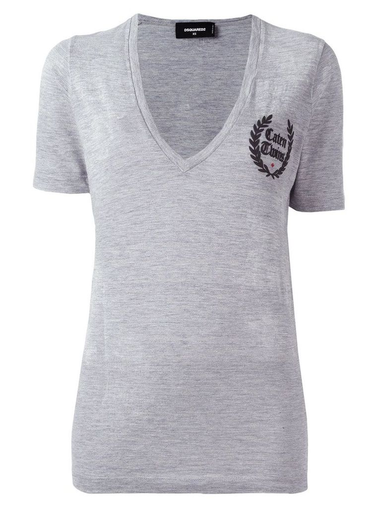 Dsquared2 Caten Twins V-neck T-shirt - Grey