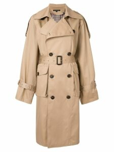 Blindness oversized trench coat - Brown