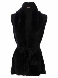 N.Peal cashmere belted cardigan - Black