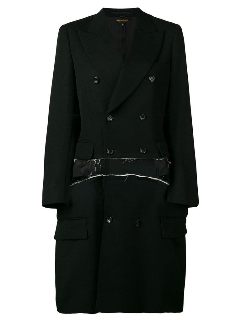 Comme Des Garçons Homme ripped double-breasted coat - Black