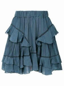 Isabel Marant Étoile Varese embroidered skirt - Blue