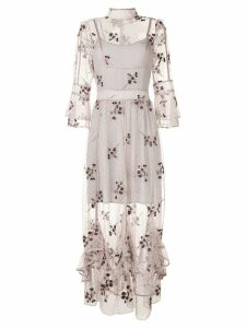 We Are Kindred Maryjane embroidered dress - Grey