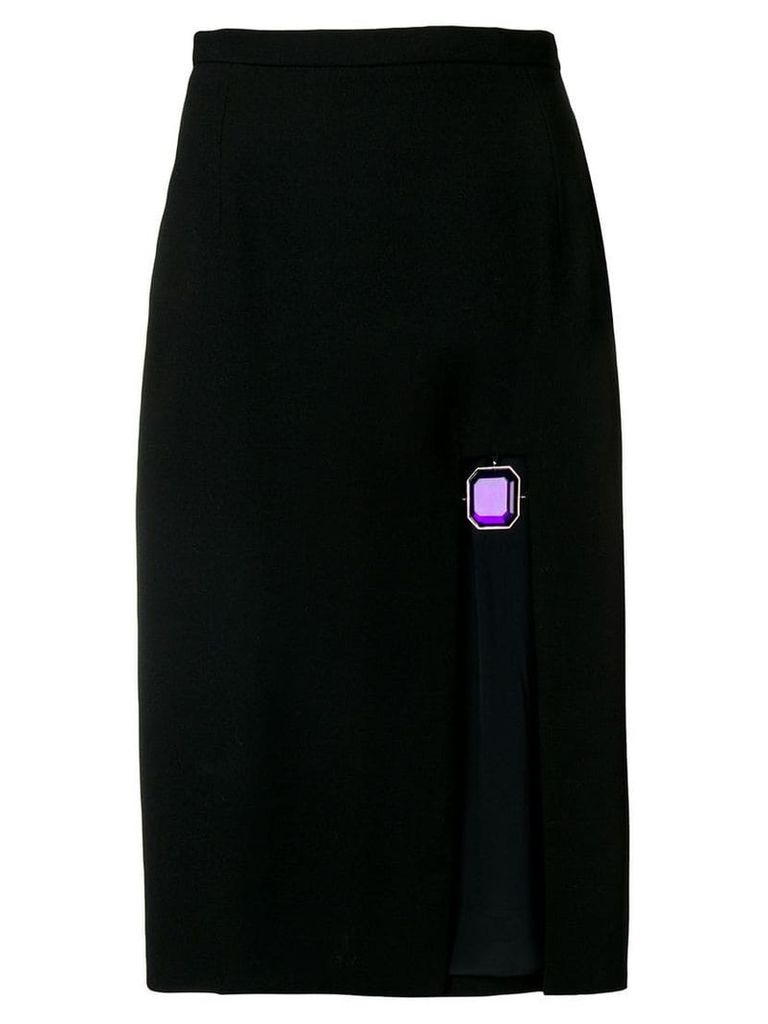 Christopher Kane jewel split skirt - Black