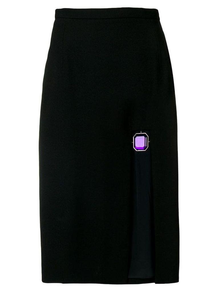 Christopher Kane jewel split skirt - Black