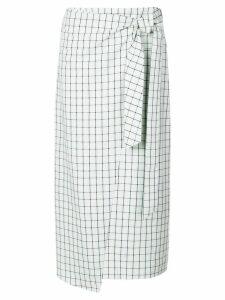 Tibi Elliot checked skirt - Green