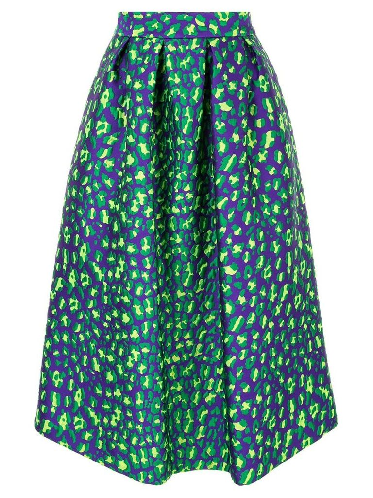 P.A.R.O.S.H. pleated brocade skirt - Purple