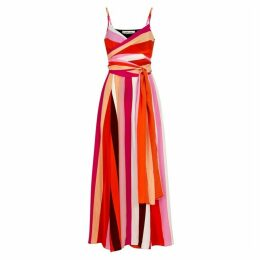 Diane Von Furstenberg Azalea Striped Silk Maxi Dress