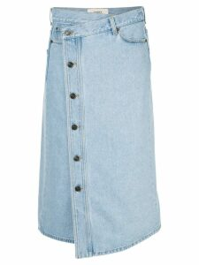 Ports 1961 wrap waist denim skirt - Blue