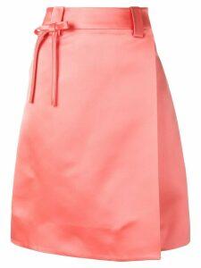 Prada silk wrap skirt - F0311 Corallo