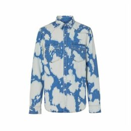Burberry Monogram Motif Bleached Denim Shirt