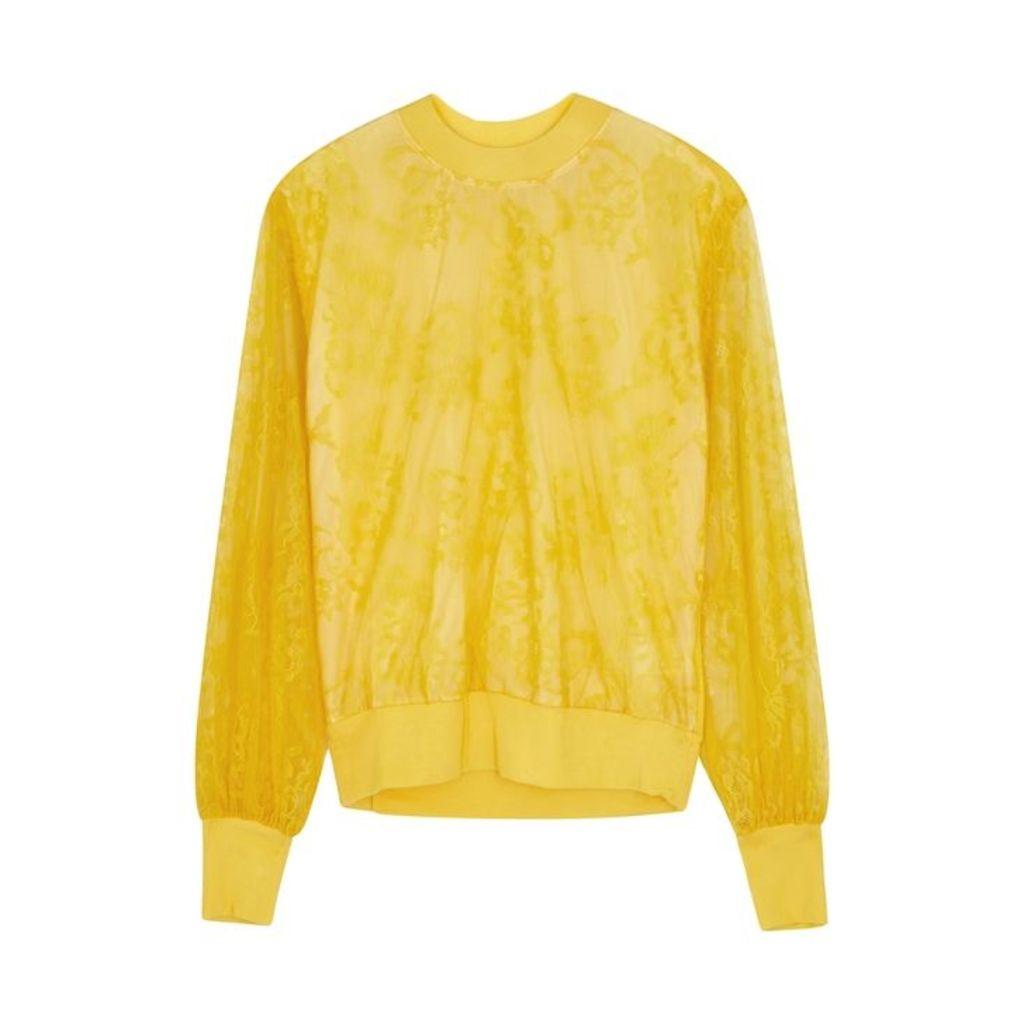Clu Yellow Lace Sweatshirt
