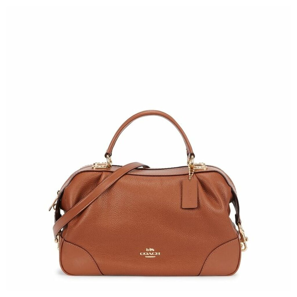 Coach Lane Brown Leather Satchel