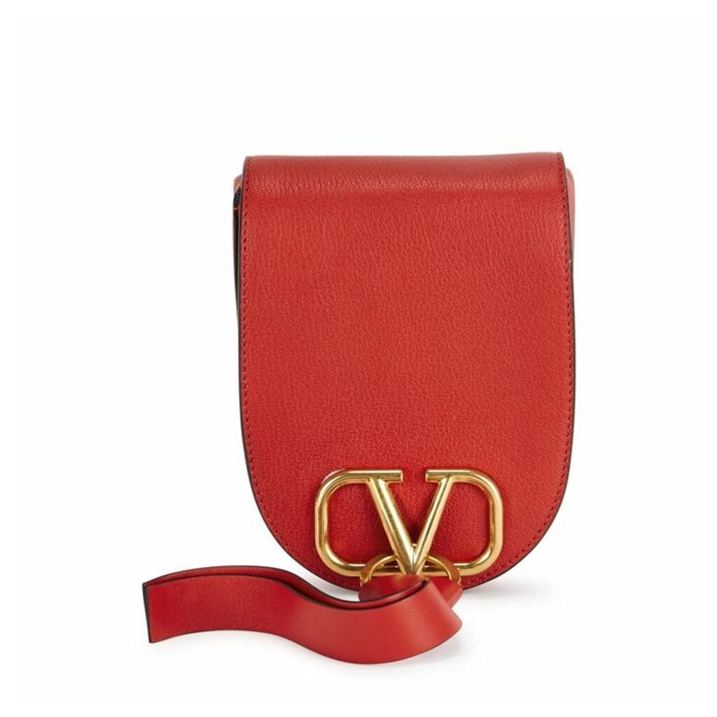 Valentino Garavani VRing Red Leather Cross-body Bag