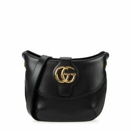 Gucci Arli Medium Black Leather Shoulder Bag