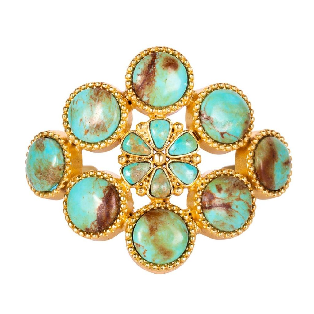 Christina Greene - The Living Stone Cuff In Turquoise