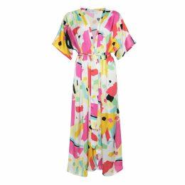 Libelula - Jessie Dress Blue Geometric Print