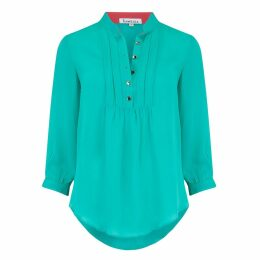 Libelula - Delphine Top Turquoise Georgette