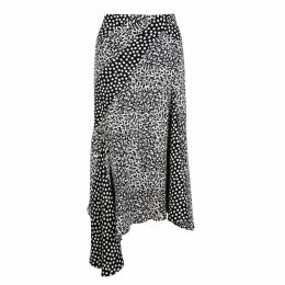NASON - Minnie Silk Mixed Print Skirt