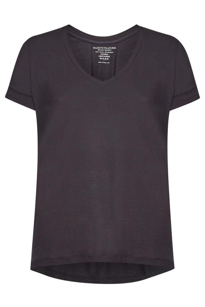 Majestic Jersey V-Neck T-Shirt