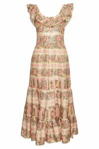 LoveShackFancy Joanne Printed Silk Dress
