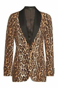R13 Shawl Lapel Tuxedo Printed Blazer