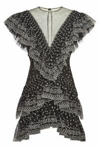 Philosophy di Lorenzo Serafini Cocktail Mini Dress with Embroidery