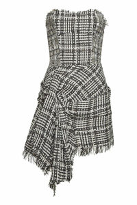 Faith Connexion Tweed Mini Dress with Knot Detail