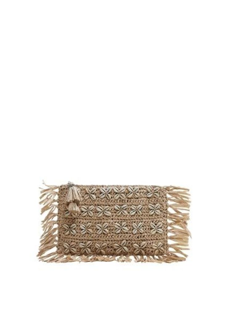 Seashell raffia bag