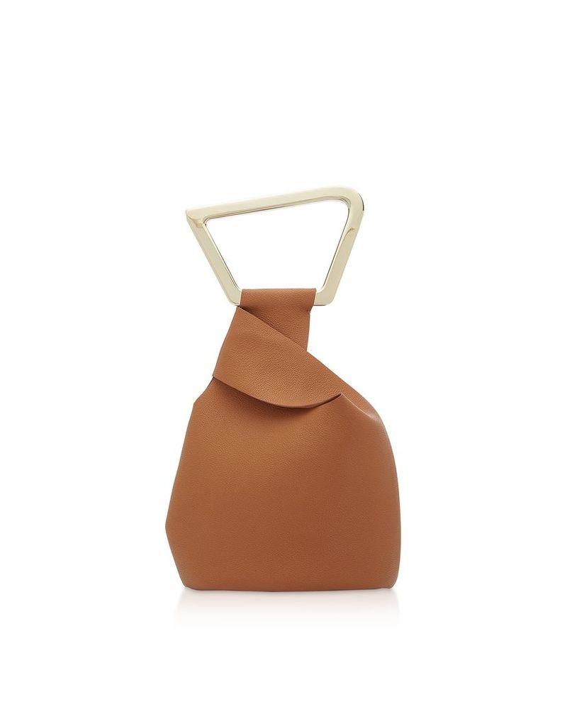Cult Gaia Designer Handbags, Astraea Leather Tote Bag
