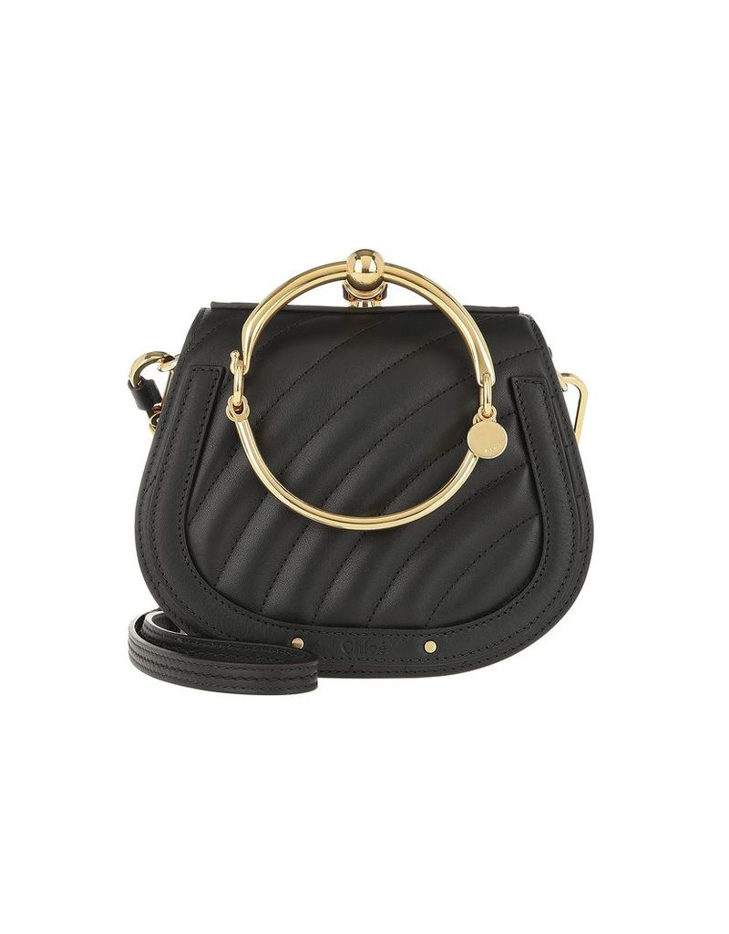 Chloe Designer Handbags, Nile Crossbody Bag Quilted Leather Black